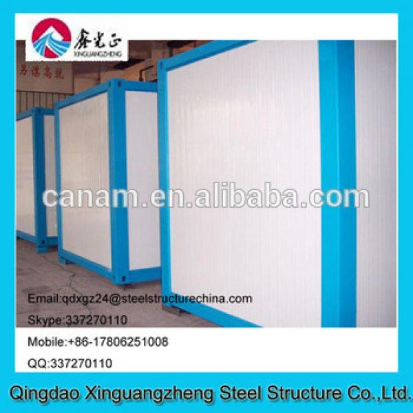 Modified low price flat pack container house refugee camp #1 image