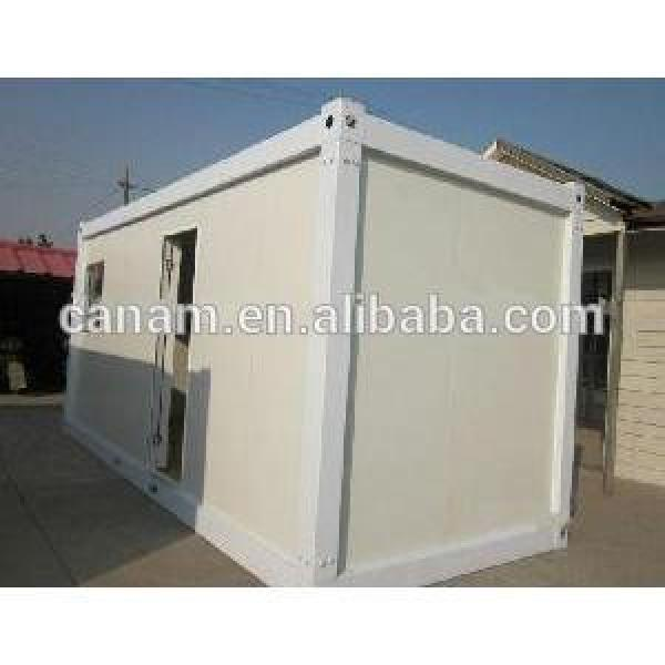 Welded Waterproof Steel Blue and White Prefab Container House #1 image