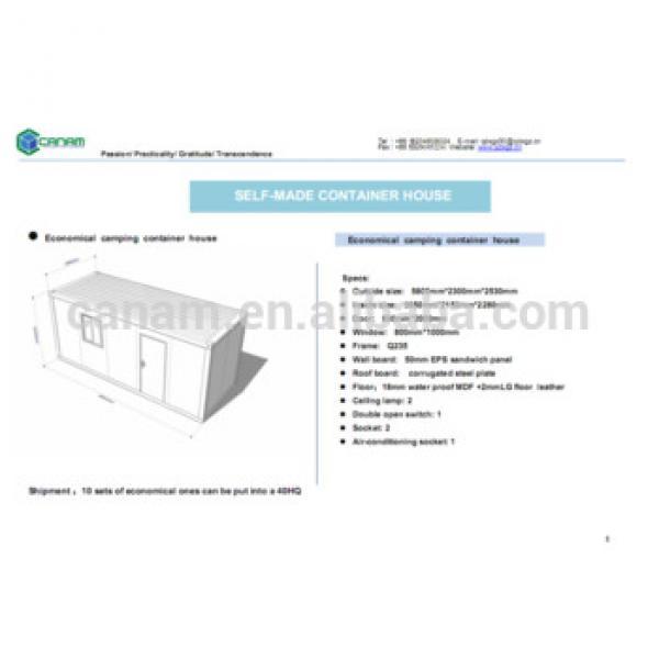 CANAM-Modular Foldable Prefabricated Caravan house for sale #1 image