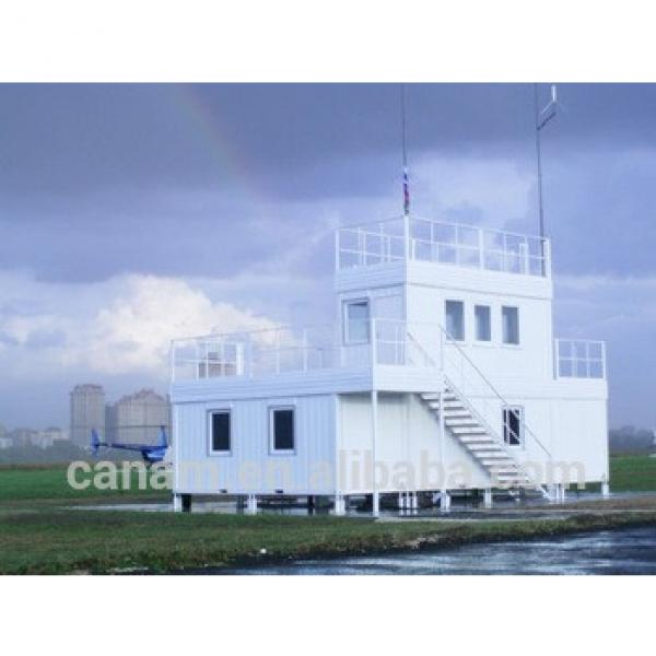movable flat-pack furnished steel structure sandwich panel container house #1 image