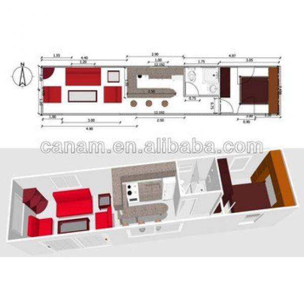 canam-container home interior layout #1 image
