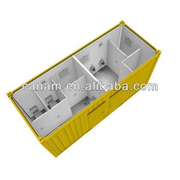 canam-prefab container bathroom plan #1 image