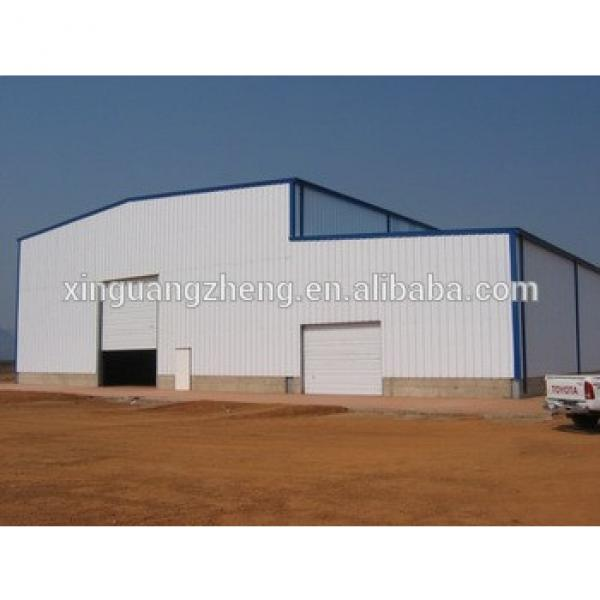construction large span prefabricate warehouses steel in angola #1 image