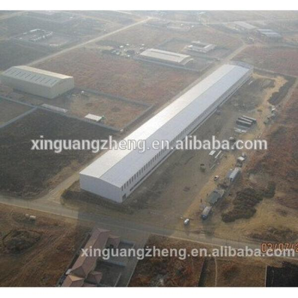 large span prefabricated cheaper construction steel structure barn #1 image