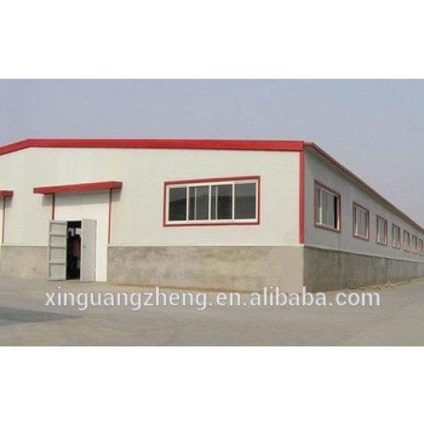 Crane equiped large span steel structure warehouse #1 image