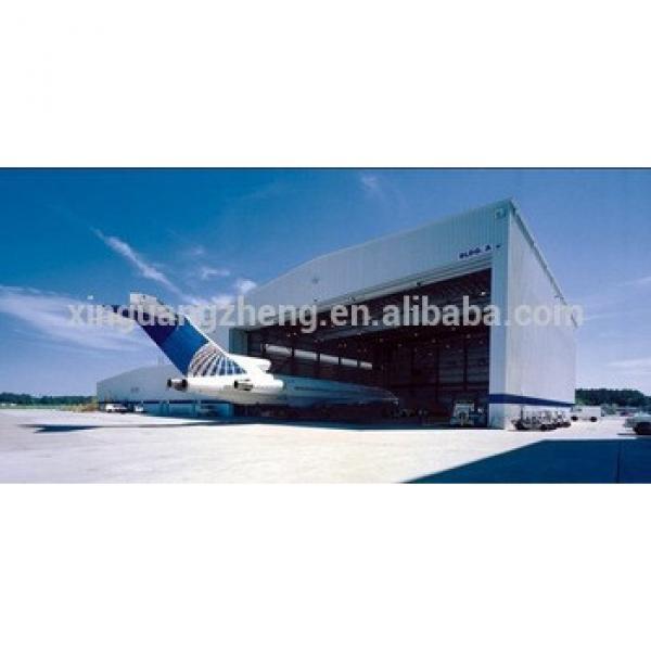 Flexible Design Prefab Structural Steel Beam Steel Constructed Aircraft Hangar #1 image