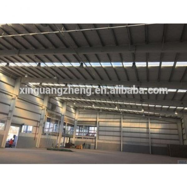 prefabricated high quality steel structure warehouse for building #1 image