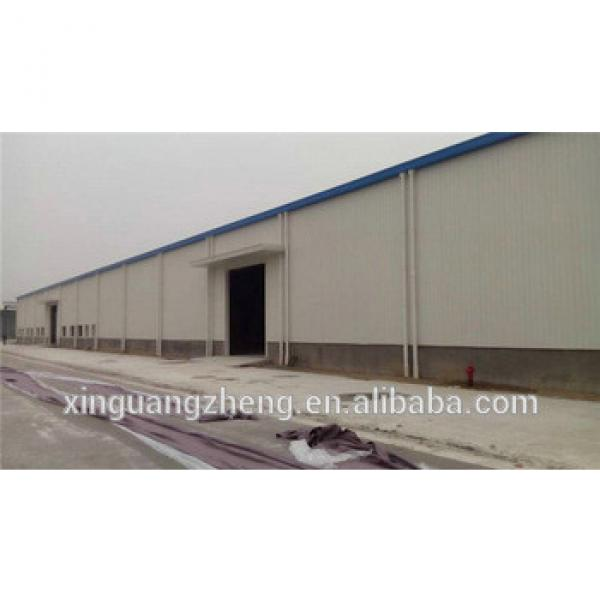 Crane equiped large span steel structure warehouse depot #1 image
