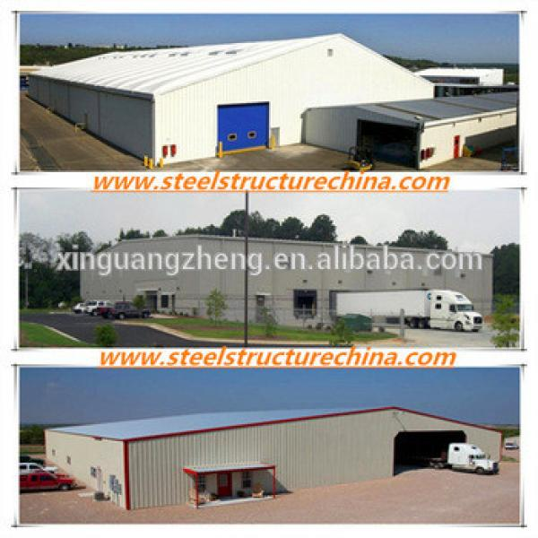 Overhead crane equiped and truck accessible rice storage steel structure warehouse #1 image