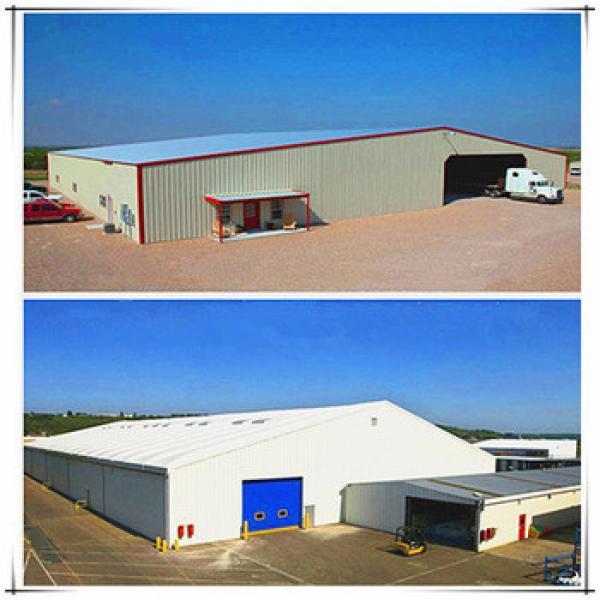 Modern truck accessible prefab steel structure warehouse/workshop #1 image