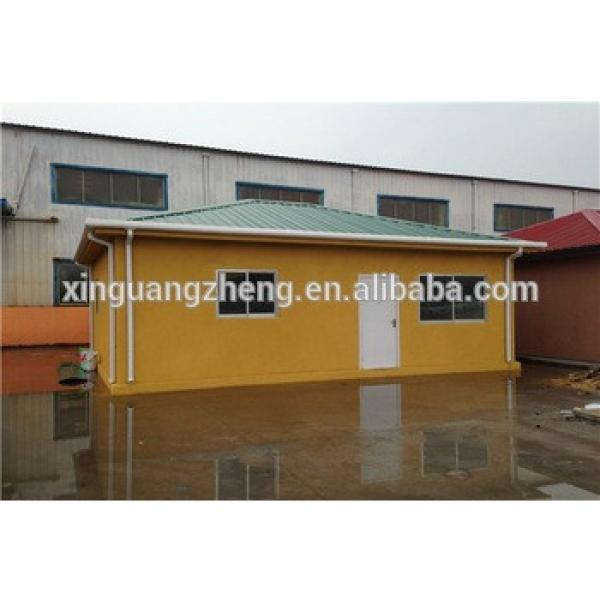 temporary popular single slope roof sandwich panel prefab house #1 image