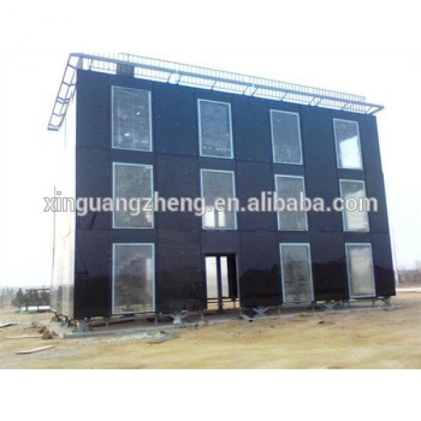 low cost prefabricated steel structure frame hotel building house #1 image