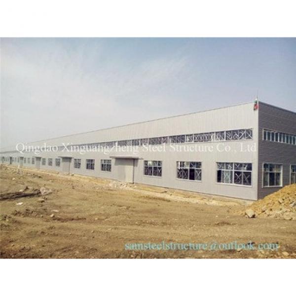 Pre-build k span prefabaricated light steel warehouse #1 image