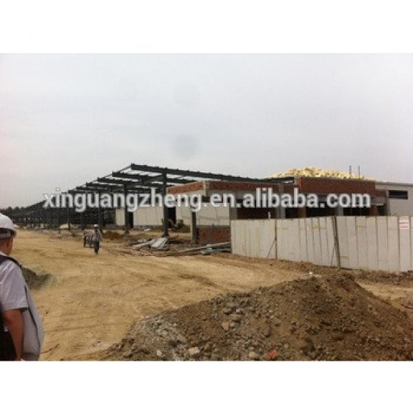 fireproof lager span prefabricated steel structure warehouse #1 image