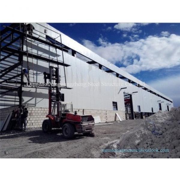 Easy erect sandwich panel prefabricted steel warehouse #1 image