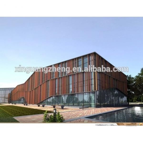 prefab steel structure large span building industrial hall showroom construction #1 image
