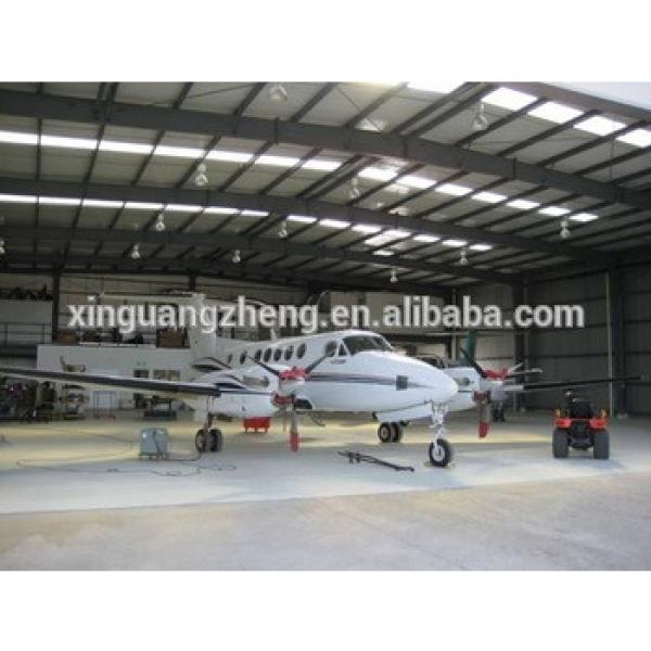 light large span prefabricated steel structure hangar with sliding door #1 image