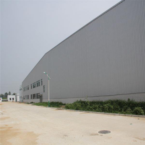 large span prefabricated insulated steel warehouse #1 image