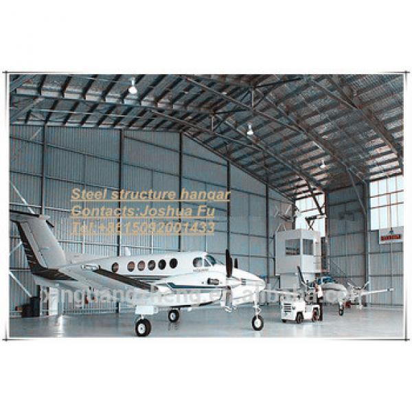 Steel structure frame Prefabricated CE certifiction aircraft hanger #1 image