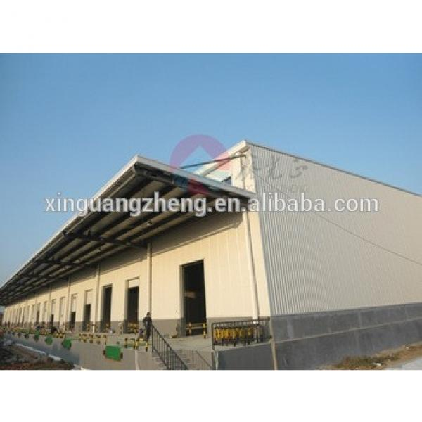 low cost construction building prefabricated gable frame steel structure #1 image
