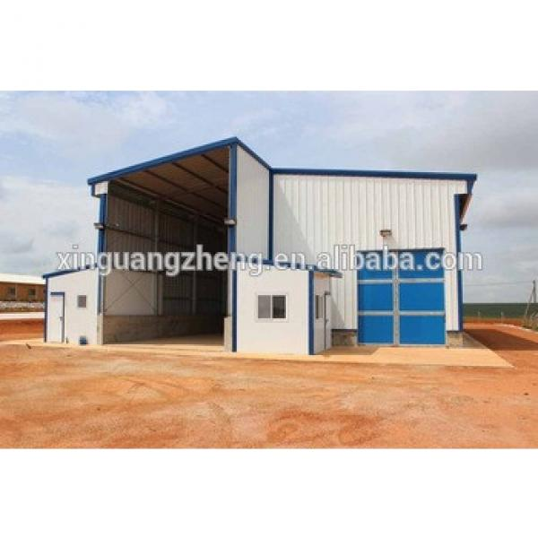 SGS Certificated Prefabricated Steel Frame Workshop Shed for Africa #1 image