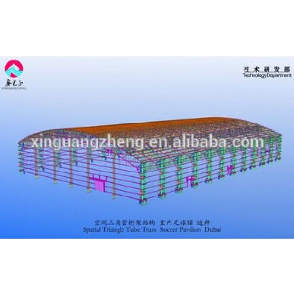 Dubai Prefabricated Steel Structures indoor football court construction buildings #1 image