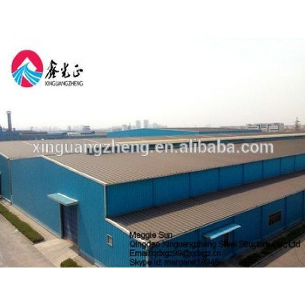 China iso9001 portal frame steel logistics warehouse construction #1 image