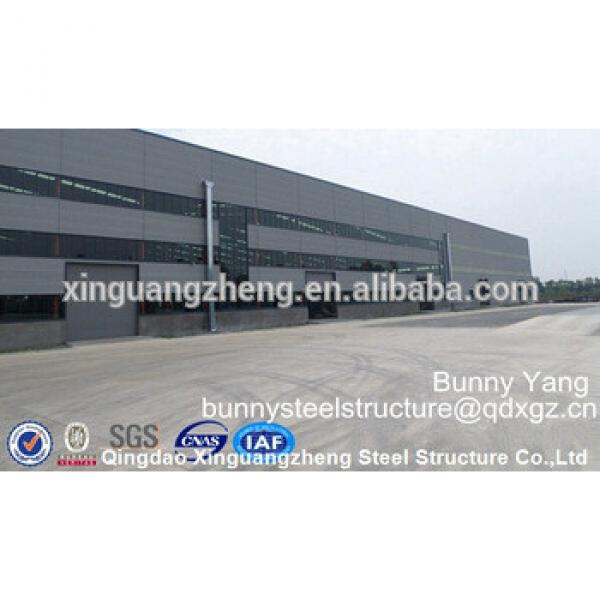 Low cost prefabricated corrugated steel buildings construction steel structure warehouse design #1 image