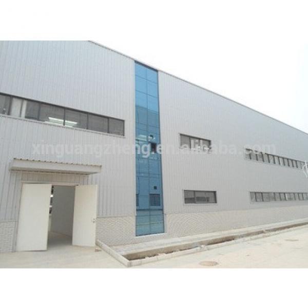 Prefab steel frame sandwich warehouse building design #1 image