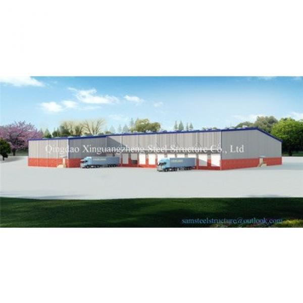Prefabricated L shape light steel structure warehouse #1 image