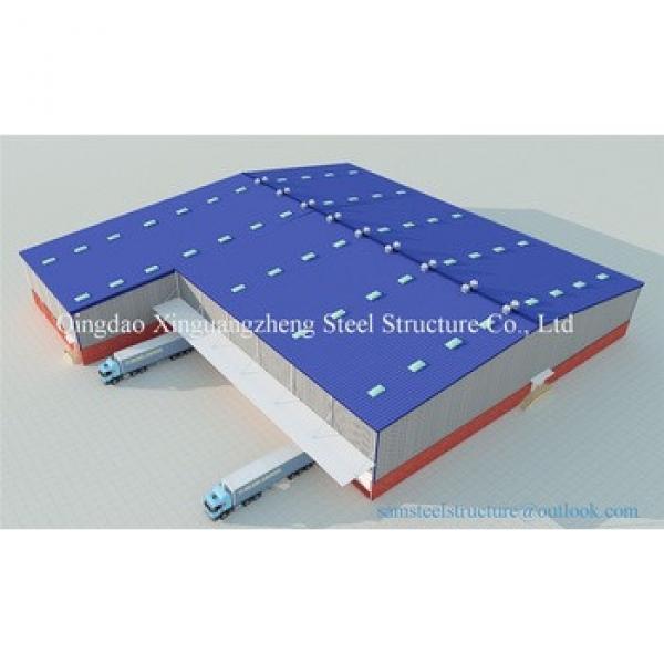 Sandwich panel L shape steel structure warehouse #1 image
