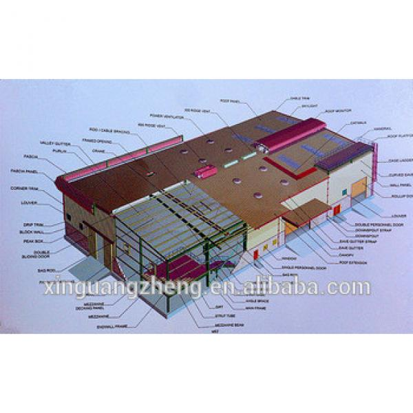 china professional prefab steel fabrication warehouse #1 image
