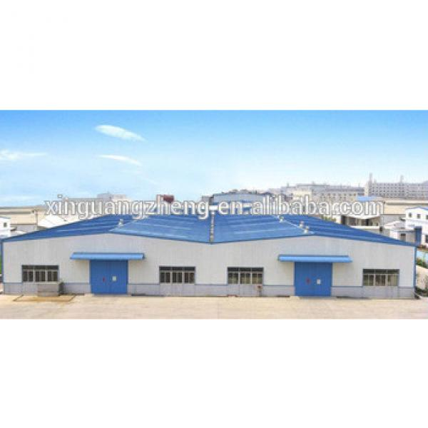 high quality prefab steel modern warehouse project, customized steel hangar #1 image