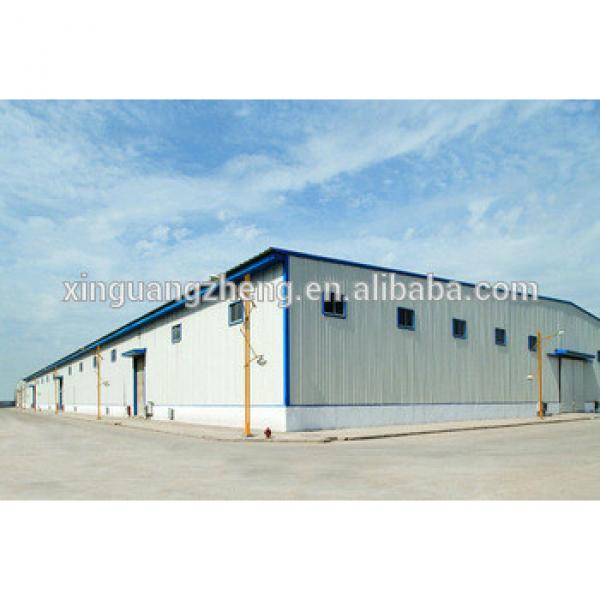 high quality pre-engineering steel structure warehouse #1 image