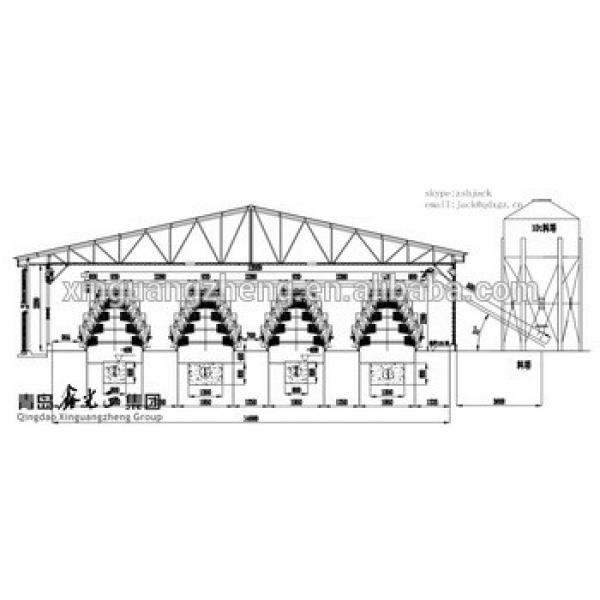 steel structure fabrication poultry farm building broiler chicken shed design #1 image