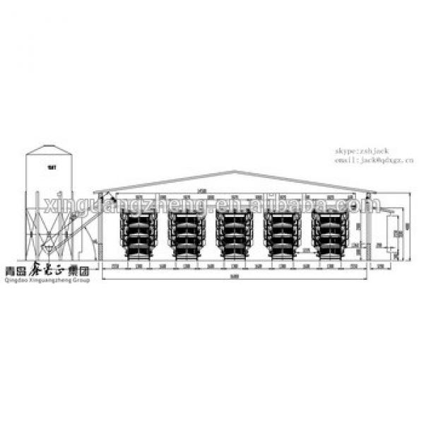 steel structure fabrication poultry farm building broiler chicken shed #1 image