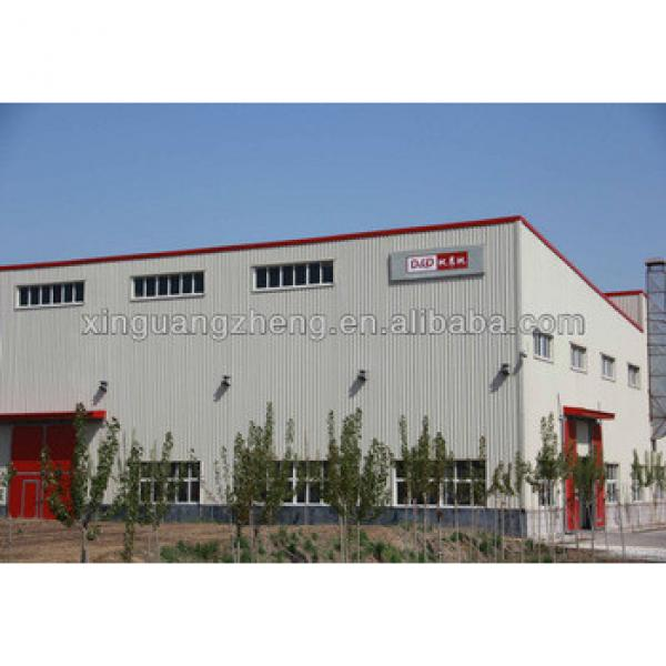low cost steel structure frame factory /warehouse/whrkshop/poultry shed/car garage/aircraft/building #1 image