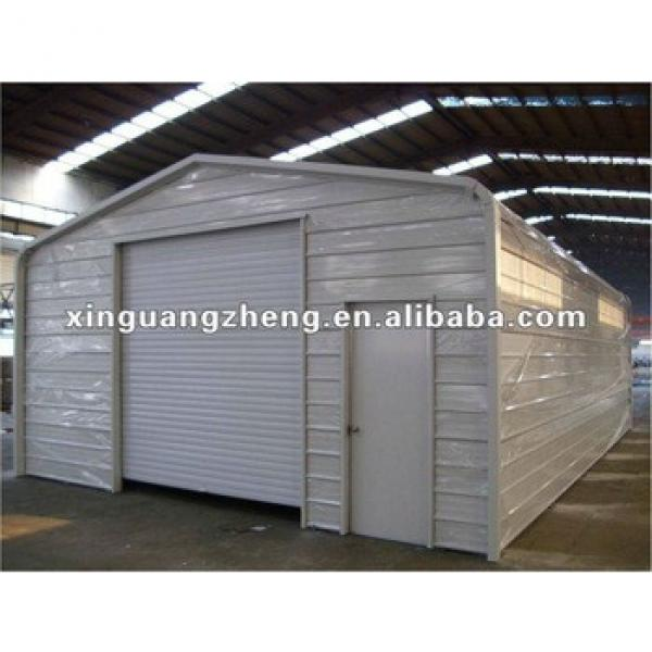 Steel structure prefabricated sandwich panel garage /warehouse/workshop/poultry shed/aircraft/building #1 image