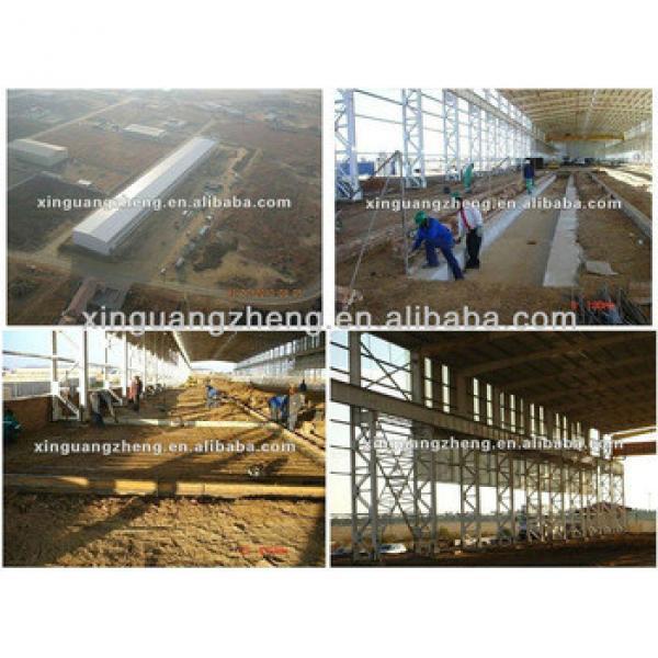 design low cost steel structure steel frame factory workshop/warehouse/whrkshop/poultry shed/car garage/aircraft/building #1 image