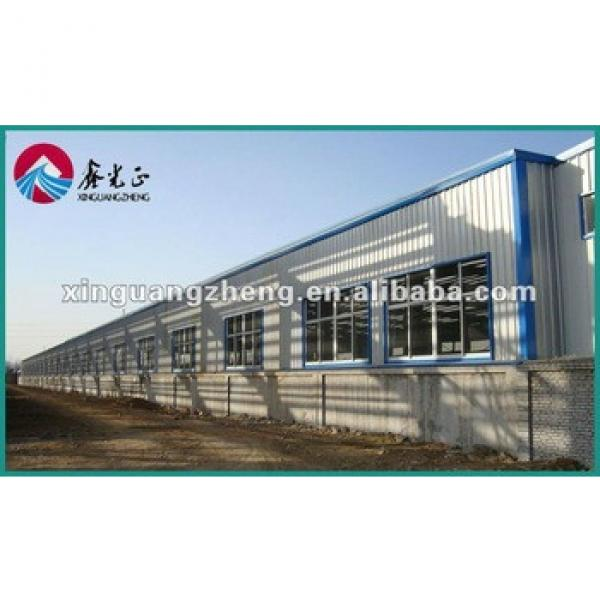 Steel H beam assembled houses warehouse with crane construction building /poutry shed #1 image