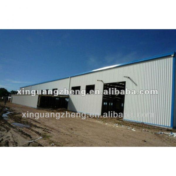 prefab steel structure warehouse / sandwich panel wall cladding steel structure workshop / steel structure building #1 image