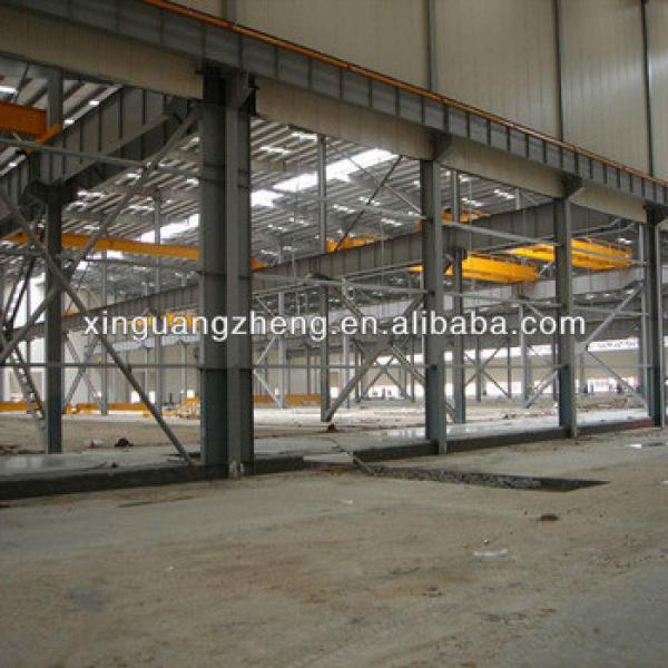 steel structure warehouse workshop shed with double pane security window #1 image