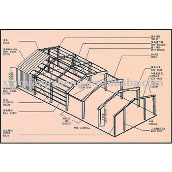 light steel structure fabricated warehouse design and installation #1 image