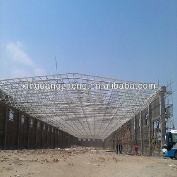 high span light teel structural gymnasium warehouse worshop shed design and construction #1 image
