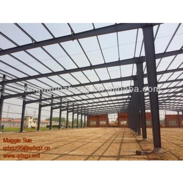 warehouse metallic roof structure welding plant #1 image