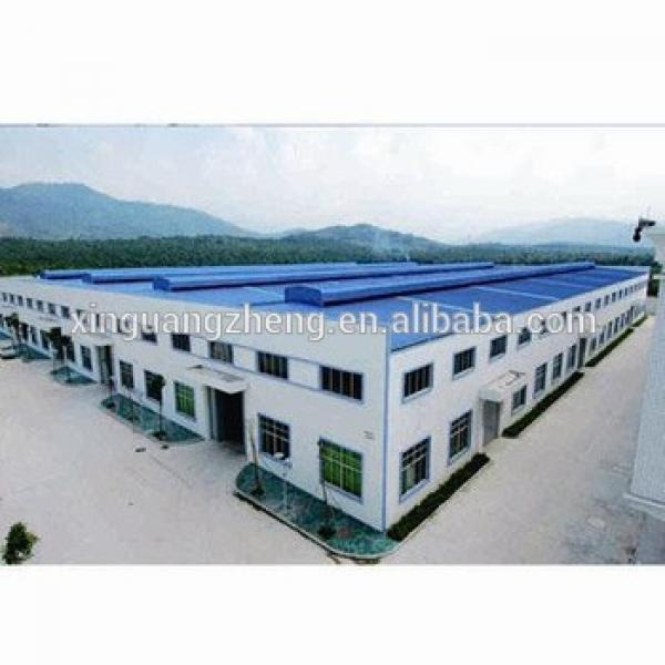 prefabricated warehouse steel column and curved metallic roof structure #1 image