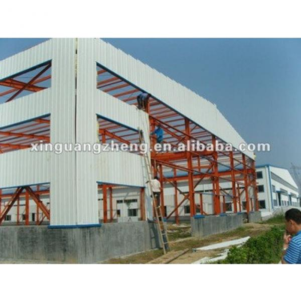 Fire-proof heat-Insulation prefab light steel structure workshop and warehouse #1 image