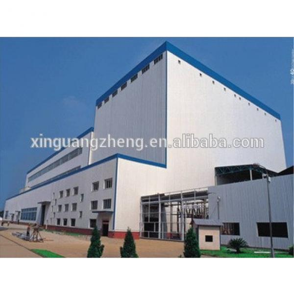 Wide Span Pre-engineering Prefabricated Steel Warehouse with ISO9001:2008 Certification #1 image