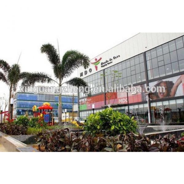 prefab light steel frame supermarket with good service #1 image