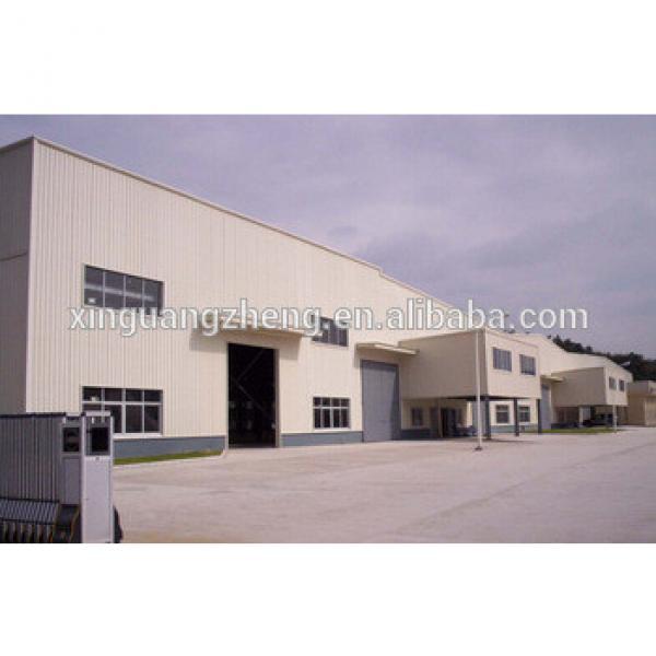 portal-framed prefabricated steel building #1 image